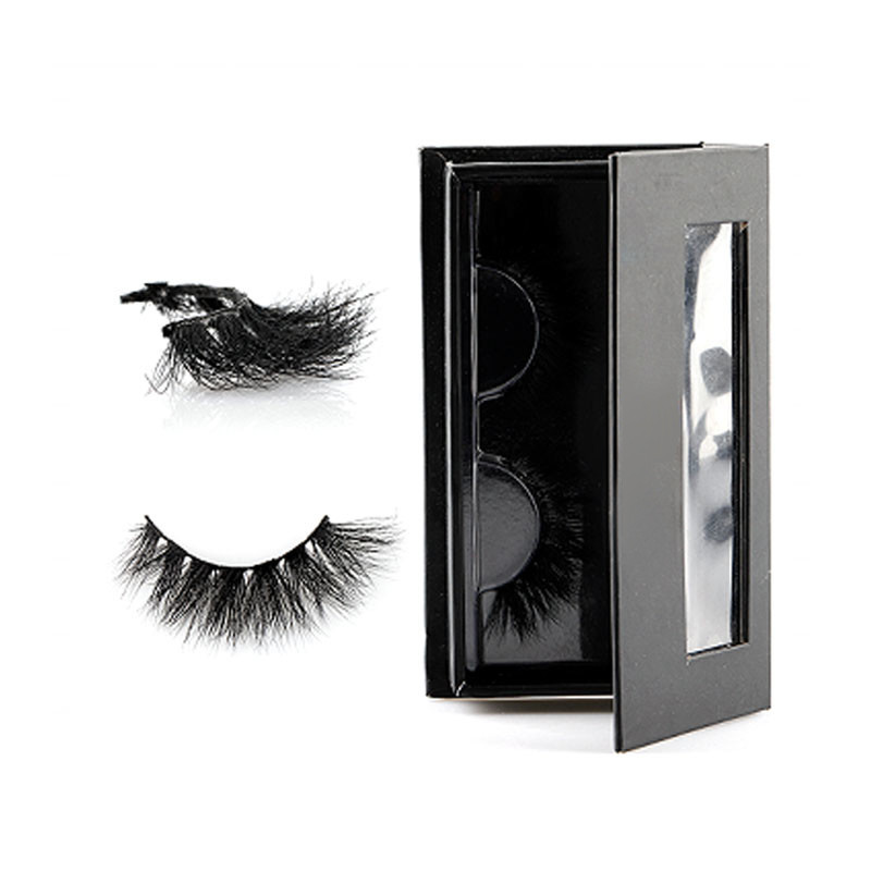 False Strip Lashes With Custom Eyelash Packaging 25mm Strip Eyelash