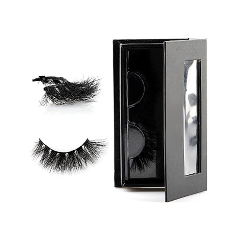 False Strip Lashes With Custom Eyelash Packaging 25mm Strip Eyelash